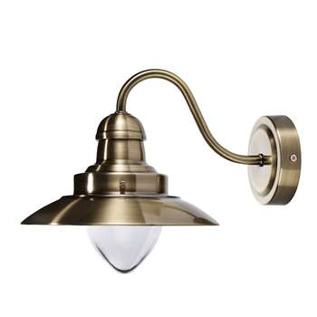 Corbridge Antique Brass Wall Light (20 x 25cm)