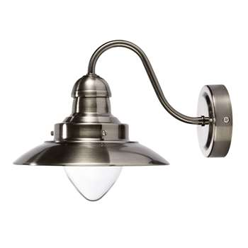 Corbridge Chrome Wall Light (20 x 25cm)