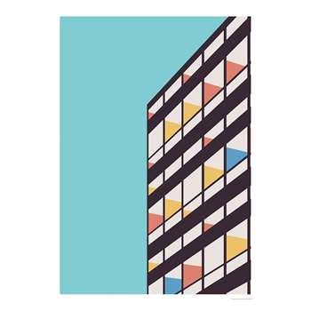 Corbusier Print By Florent Bodart (H100 x W70cm)