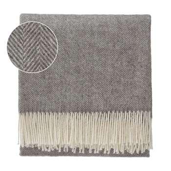 Corcovado Alpaca Blanket, Grey & Off-White (130 x 170cm)