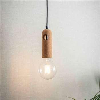 Cork Pendant Light (H15.5 x W5 x D5cm)