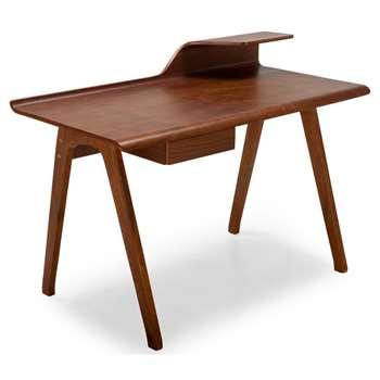 Cornell Desk, Walnut (H73 x W125 x D61cm)