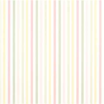 Cornish Stripe Blush Wallpaper
