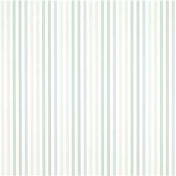 Cornish Stripe Grey Green Wallpaper