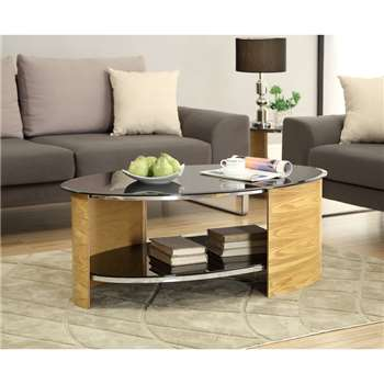 Corsair Oak Oval Coffee Table (46 x 120cm)