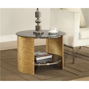 Corsair Oak Round Lamp Table (H46 x W61 x D61cm)