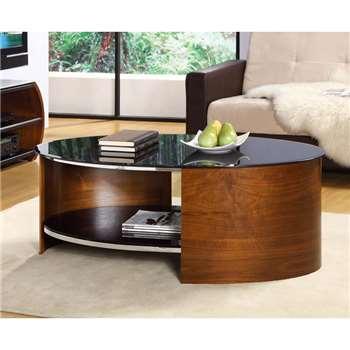 Corsair Walnut Oval Coffee Table (45 x 119cm)