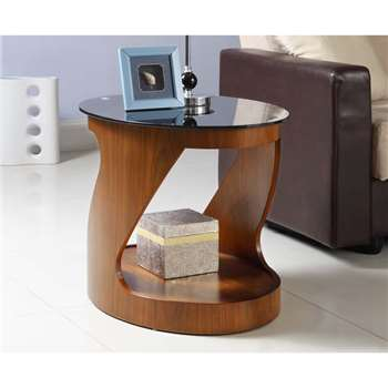Corsair Walnut Oval Lamp Table (H51 x W66 x D49cm)