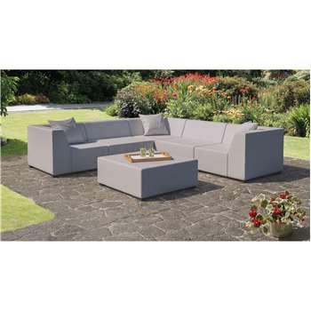 CoSi Amsterdam Weatherproof Outdoor Corner Sofa Set, Light Grey