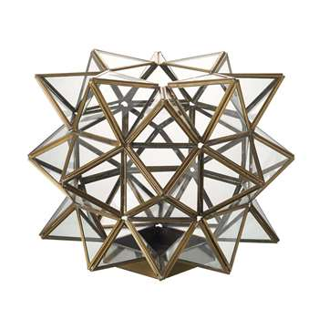 Cosmic Brass Lantern (H24 x W35 x D35cm)