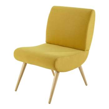 COSMOS Fabric vintage armchair in yellow (76 x 50cm)