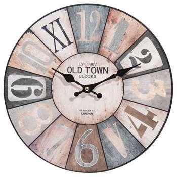 COSY Wooden Clock (Diameter 34cm)