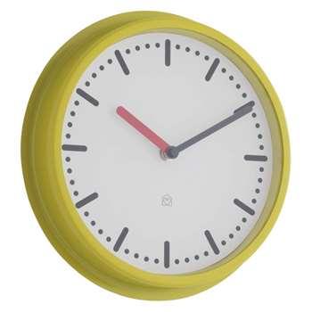 Cotta Yellow metal wall clock (Diameter 22.5cm)