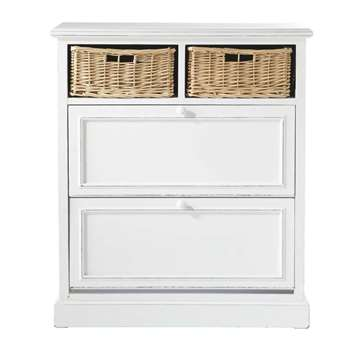 COTTAGE Shoe cabinet in white (93 x 80cm)