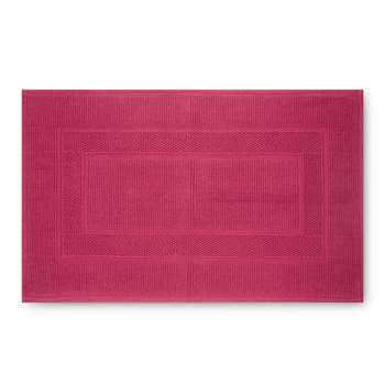 Cotton Bath Mat Cranberry (H50 x W80cm)