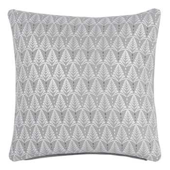 Cotton Cushion Cover with Silver Fir Tree Print (H40 x W40cm)