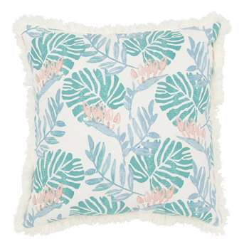 Cotton Cushion Cover with Tropical Print (H40 x W40cm)