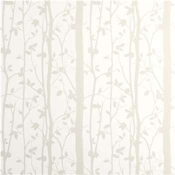 Cottonwood White Leaf Wallpaper