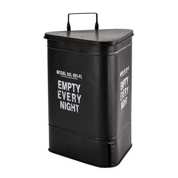 COVINGTON METAL BIN IN BLACK H 63CM