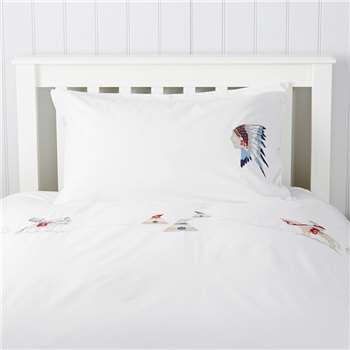 Cowboy Brave Bed Linen - Pillowcase, Cot, White (50 x 75cm)