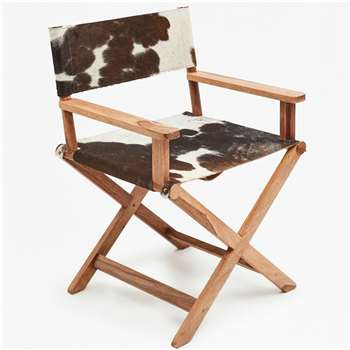 Cowhide Director Chair - Brown (88 x 62cm)