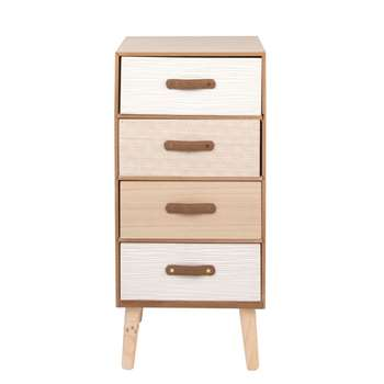 CRAFT - Small Patterned 4-Drawer Storage Unit (H75 x W34.5 x D27cm)