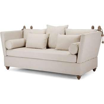 Crawley 3 Seater Sofa, Natural Chevron (93 x 194cm)