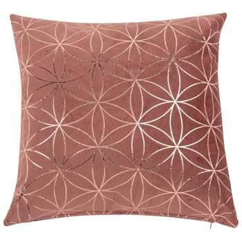 CRAZY GREN Printed Pink and Gold Cushion Cover (H40 x W40cm)