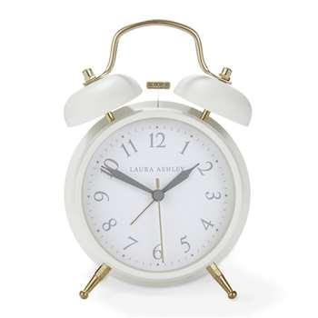 Cream Medium Bell Alarm Clock (17 x 11.7cm)