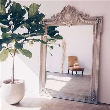 Crest Top Mirror (H165 x W110cm)