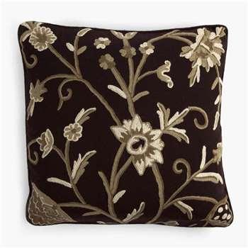 Crewelwork Cushion - Ruffle (45 x 45cm)
