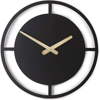 Croesi Large Wall Clock, Matt Black (Diameter 50cm)