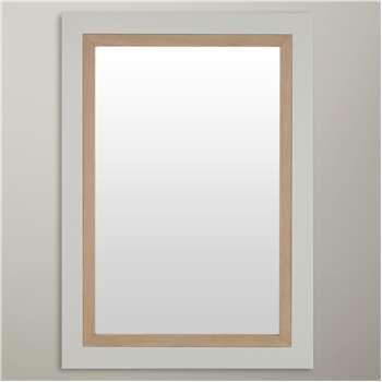 Croft Collection Blakeney Bathroom Mirror, Light Silver (69 x 49cm)