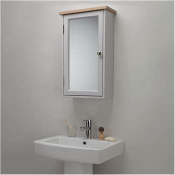 Croft Collection Blakeney Single Mirrored Bathroom Cabinet (H65 x W40 x D17.5cm)
