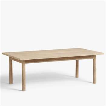 Croft Collection Burford Garden Coffee Table, FSC-Certified (Eucalyptus Wood), Natural (H64 x W100 x D38cm)