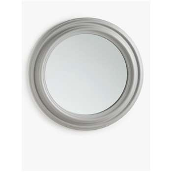 Croft Collection Extra Large Round Wall Mirror, Grey (H110 x W110 x D7.5cm)