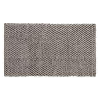 Croft Collection Jute Loop Door Mat Rug, Grey (H45 x W75cm)