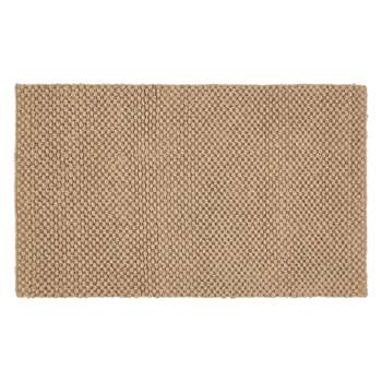 Croft Collection Jute Loop Door Mat Rug, Natural (H45 x W75cm)