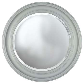 Croft Collection Large Porthole Round Mirror, Grey (H68 x W68 x D4.3cm)