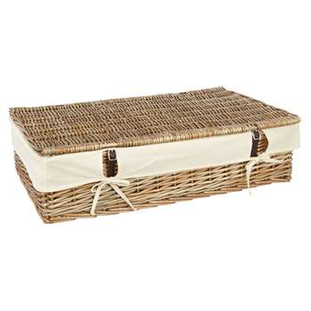 Croft Collection Willow Under Bed Lined Storage (H18 x W45 x D75cm)