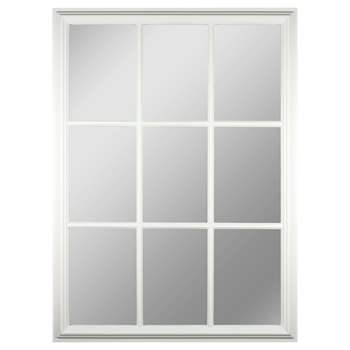 Croft Collection Window Pane Rectangle Mirror, H112 x W82cm, White (H112 x W82 x D3.5cm)