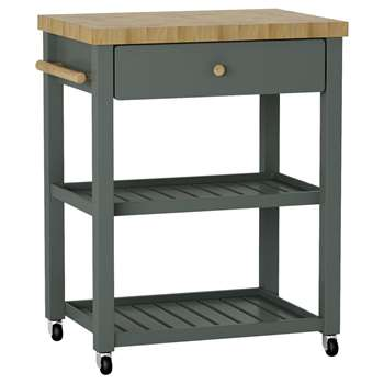 Croft Collection Wood Butcher's Trolley, Grey/Natural (89.7 x 79.9cm)