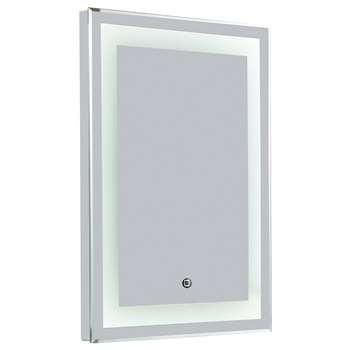 Croydex Rookley Hang N Lock LED Illuminated Mirror (H70 x W50 x D3cm)