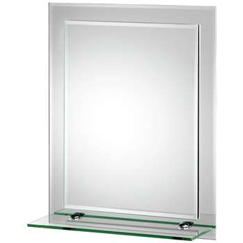 Croydex Rydal Double Layer Wall Miror with Shelf (H50 x W40 x D16cm)