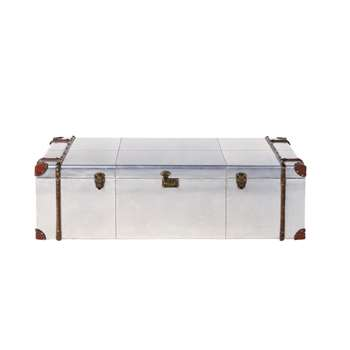 CRUSE - Truck Coffee Table in Studded Aluminium (H36 x W120 x D60cm)