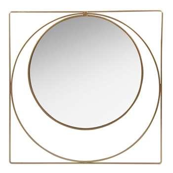 CUBA Gold Metal Mirror (H40 x W40 x D1.2cm)