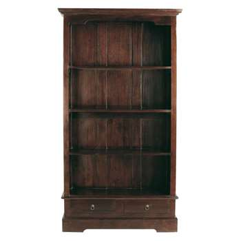 CUBANA Solid mahogany bookcase (180 x 98cm)