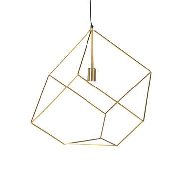 CUBE Gold Wire Pendant (58 x 56.5cm)