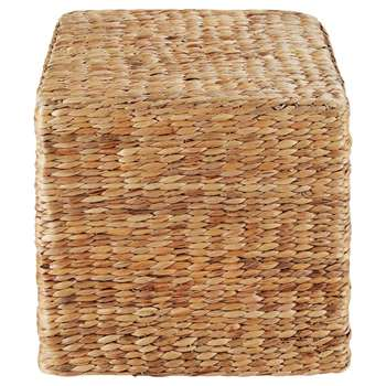 BANDUNG Cube Pouffe in Woven Banana Tree Leaves (H39.5 x W37 x D37cm)