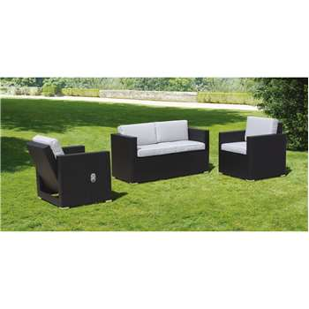 Cubo Black and Taupe Lounge Set